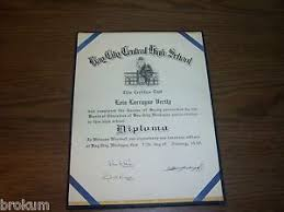 bay city central high school diploma michigan lois l verity  image is loading 1949 bay city central high school diploma michigan