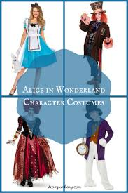 alice in wonderland character costumes mad hatter march hare white rabbit queens