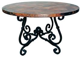 copper top tables dining table care diy round from house furniture