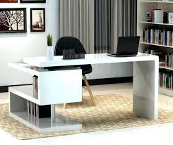charming white office. Amusing Futuristic Concept For Modern Office Desk Which Is Painted In White And Black Colors Charming O