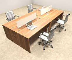 office workstation desks. Four Person Modern Divider Office Workstation Desk Set, #OT-SUL-FP5 Desks