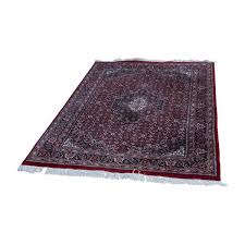 oriental carpets red color with fringe 20th century