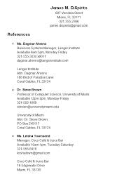 Resume References Inspiration Job Applications Obtaining References