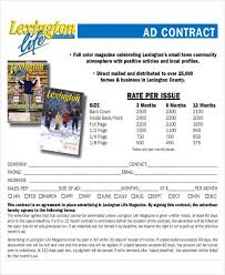 Newspaper Advertising Contract Template Sample Advertising Contract Agreement 7 Examples In Word