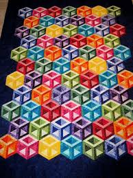 51 best 3D Quilts/Designs images on Pinterest | Baby afghans ... & Finely Finished Quilts: Connie's Hollow Cubes Adamdwight.com