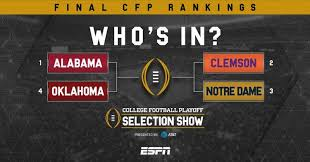 The College Football Playoff Is Officially Set Business