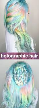 Blue Yellow Pink Holo Hair Soft