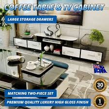 tv cabinet coffee table set 2pc