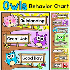 Owl Behavior Clip Chart Behavior Chart Owl Theme Classroom Decor Behavior Clip