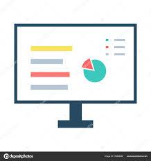 Vector Computer Screen Data Vector Computer Monitor Chart