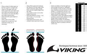 Sizing Chart Viking Rain And Winter Boots Weevikings