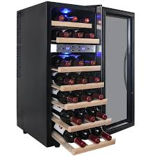 AKDY Dual Zone Thermoelectric Stainless Steel 21 Bottle Freestanding Wine  Cooler. >>