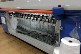 boll branch sheets review. A Knitting Machine At The Factory Creates Throw. Boll Branch Sheets Review