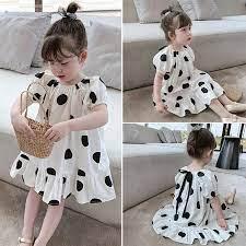 Zhihuida 1-7 Tuổi Váy Bé Gái Bông Dễ Thương ĐầM ChấM Bi Mùa Hè Trẻ Em Váy  Đáng Yêu Trẻ Em Thời Trang Váy Dạ Hội Công Chúa