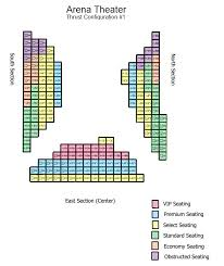 Stages Repertory Theatre Seating Chart Arena Theater Thrust 1 Seat Map Stages Repertory Theatre
