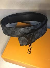 Authentic Louis Vuitton Men S Damier Graphite Belt Size 95 38