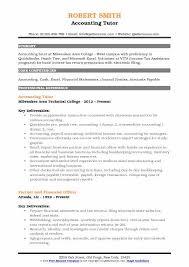 Tutor Resume Interesting Accounting Tutor Resume Samples QwikResume