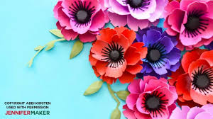 Make A Paper Poppy Flower Make Paper Poppies With Free Templates Jennifer Maker