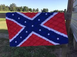 284 best Patriotic Flag Rag Quilts images on Pinterest | Flag ... & Confederate flag rag quilt Adamdwight.com