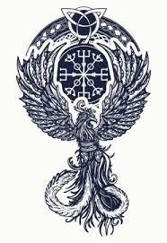 Vektorová Grafika Kouzlo Tepla Ptáků Tetování A Tričko Keltský