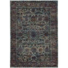 oriental weavers andorra 6846b blue purple area rug