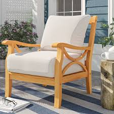 montford teak patio sofas with cushions