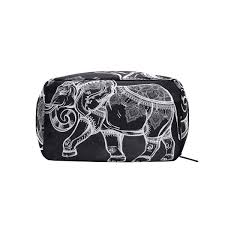 Makeup Case With Lights India Amazon Com Hippie Indian Elephant Mandala Makeup Case