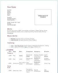 Theatre Resume Template Word Classy Theater Resume Template Acting Maker Word Professional Release Date