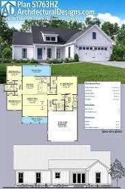 plan 51763hz exclusive 3 bed farmhouse with tremendous open concept floor