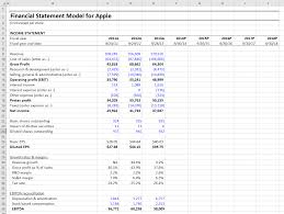 Profit Projections Template Income Statement Projection Template Free Spreadsheet Excel