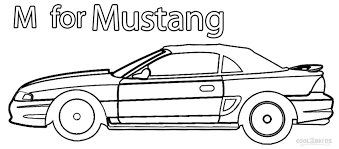 Ford Mustang Coloring Pages Printable Get Coloring Pages