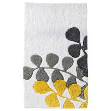 mesmerizing unique grey target bath rugs fl pattern and beautiful yellow bathroom