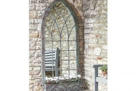 gothic style metal window mirror and