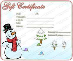 Printable Christmas Certificates christmas certificates templates for word gift certificate template 76
