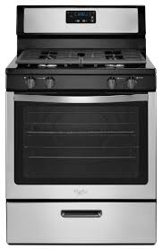 whirlpool freestanding 5 1 cu ft gas range stainless steel common 30