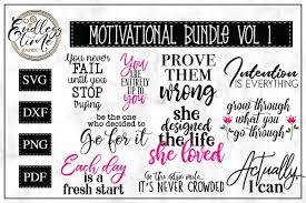 Motivational Quotes Svg Bundle 10 Unique Quotes