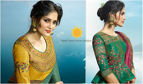 Saree Blouse Designs Front And Back 2017 Top 10 Latest Blouse Designs Catalogs For Saree Blouse