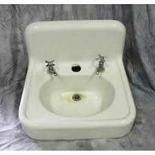 antique wall hung under mount sinks