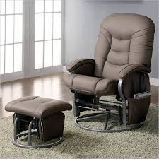 stylish rocking chair with ottoman