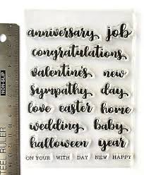 Words For Congratulations Clear Rubber Stamps Words Easter Sympathy Congratulations