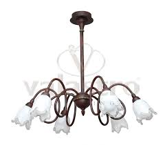 made in italy ceiling lamp wrought iron valastro lighting color structure black rust