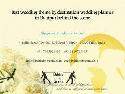 Wedding Planner Ppt Ppt Best Wedding Theme By Destination Wedding Planner In Udaipur