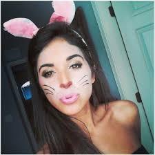 face clock cute bunny rabbit costume makeup bunny makeup