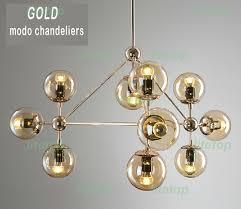 gold modo chandelier 10 globes 15 globes 21 globes golden color glass chandelier jason miller pendant