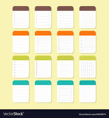 Notepad Template Template Notepad Design Sheets Of Paper Royalty Free Vector