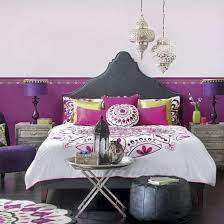 Moroccan Bedrooms Eye Catchy Bohemian Bedroom Ideas Feats Colorful Wallpaper