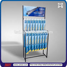 Wiper Blade Display Stand TSDM100 Custom floor promotion pos metal windshield wiper blade 3