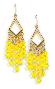 03 04 965 yellow crystal chandelier earrings