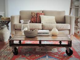 DIY White Pallet Coffee Table On Wheels  Pallet Furniture DIYPallet Coffee Table On Wheels