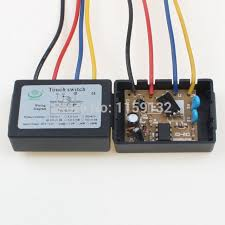 2pcs 4 mode on off touch dimmer switch xd 613b for glass led lamp